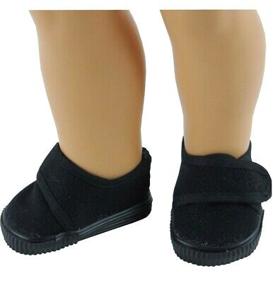 98396ceaa4b BLACK CANVAS LOAFERS Boy Shoes fit 18