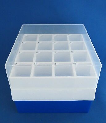 12 VWR 16 Place Freezer Storage Boxes for 50 mL Tubes Cryo Storage