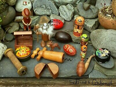 Job Lot Of Collectable Vintage Wood & Treen Items-