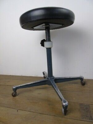 Vintage Eyeline of England Dentist Swivel Stool old seating chair