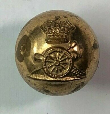 19th Century Royal Artillery Ball button Gilt finish 18 mm