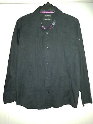 M & S Autograph Shirt - Black ribbed / floral pattern - Age 10 - Great Condition