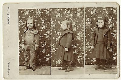 Three Views Of A Child In Union, Oregon    (Composite Cabinet Card)