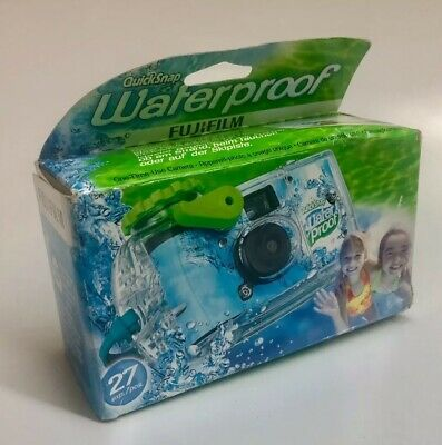 FujiFilm QuickSnap Waterproof one-time-use camera. 800 speed, 27 exposures EXP