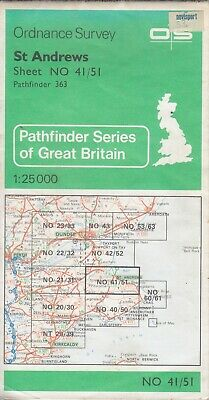 Ordnance Survey Map 1:25,000 Pathfinder Sheet NO 41/51 St Andrews