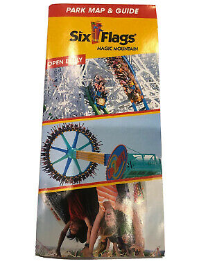 Six Flags Magic Mountain Map & Guide 2019 NOT INCLUDING WEST COAST RACERS