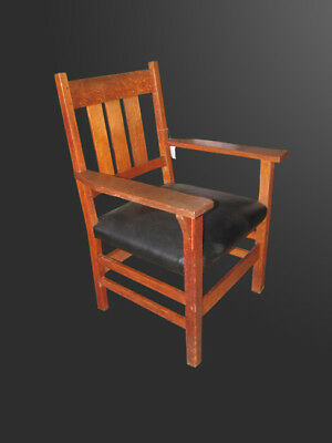 Antique GUSTAV STICKLEY Armchair w3176