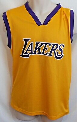 2e560f25c8b Nba Los Angeles Lakers Chick Hearn Jersey Gold Size Xl Very Good Condition  W15