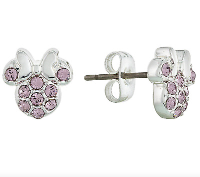 f745e9bf785d5 DISNEY PARKS MINNIE Mouse Icon Blue Stud and Heart set of 3 Earrings ...