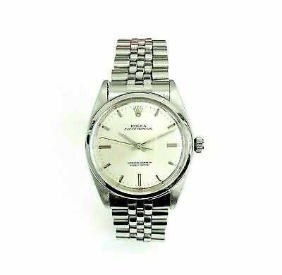 Rolex 36 MM Oyster Perpetual Watch Stainless Steel Ref # 1018 Factory Dial 1960