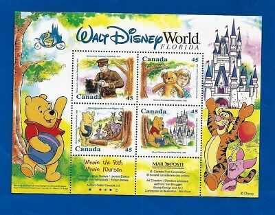 CANADA Canadian Disney Winnie the Pooh .45c postage stamps souvenir sheet MNH