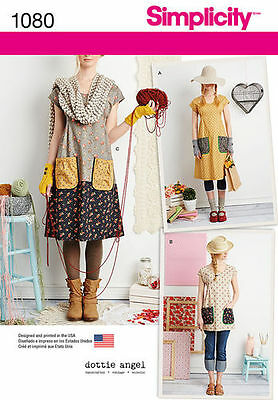 Simplicity 1080 Paper Sewing Pattern Misses' 6-24 Dottie Angel Loose Top Tunic