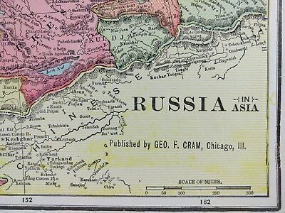 "Vintage 1902 RUSSIA Atlas Map 14""x11"" ~ Old Antique MOSCOW ST PETERSBURG MAPZ"