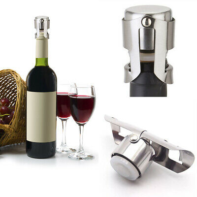 Leakproof Stainless Steel Bottle Stopper Wine Saver Prosecco Champagne Stopper