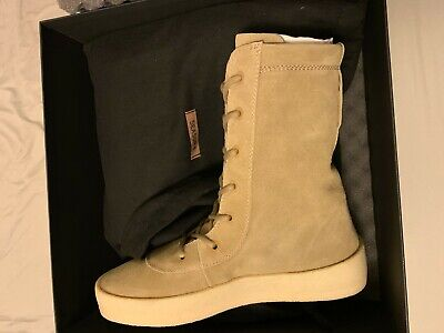 83f4d89a7ebd9 Yeezy Season 2 beige 45 suede crepe sole lace up military boot shoe  645