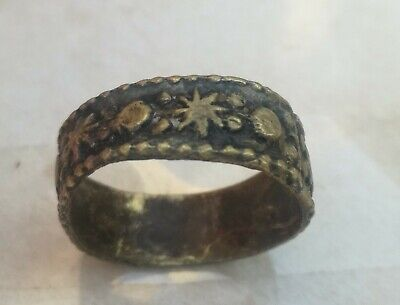 Rare Ancient Solid Ring Antique Roman REAL Bronze Stunning Artifact vintage 1940