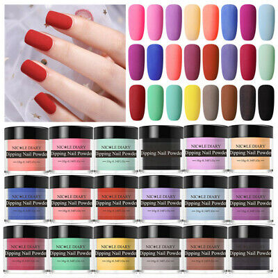 NICOLE DIARY 10g Dipping Powder Matte Natural Dry Nail Dip System Starter Kits