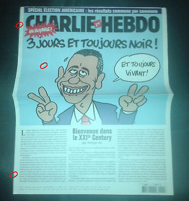 CHARLIE HEBDO  HORS SERIE  n°1H SPECIAL ELECTION AMERICAINE OBAMA  7/11/2008