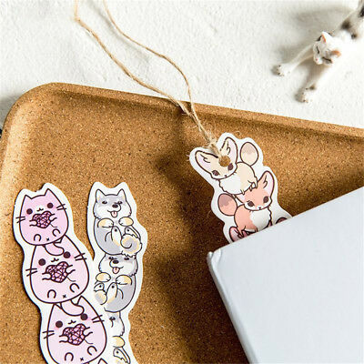 Cartoon Animals Paper Bookmark School Stationery Kids Gift Message Card 2019