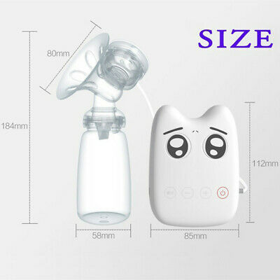 RealBubee Small Intelligent USB Electric BPA Free Automatic Massage Breast Pump