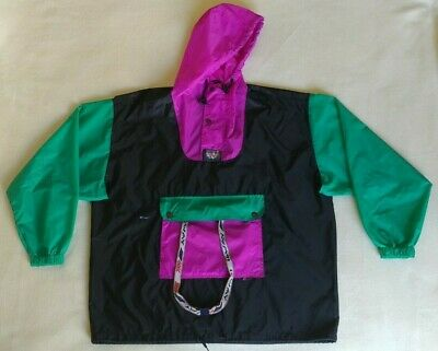 VINTAGE 80'S K WAY Rain Jacket Nylon Hooded Windbreaker