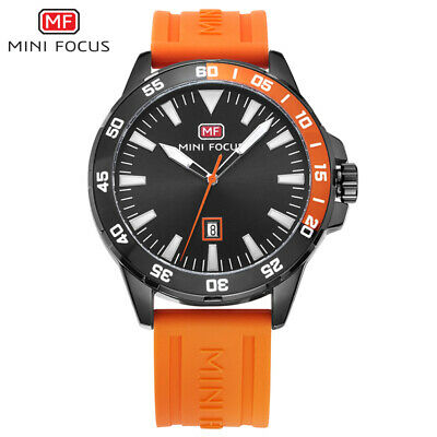 MINI FOCUS Military Watches Men Alloy Case Simple Dial Waterproof Sports Watches