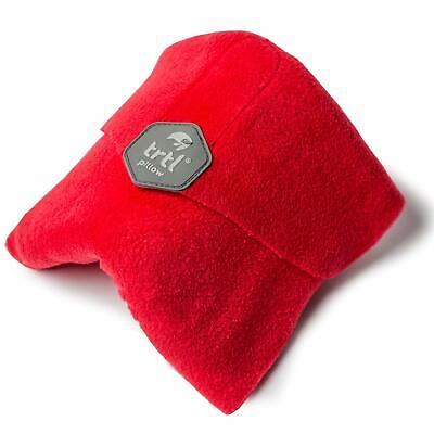 trtl Pillow - Scientifically Proven Super Soft Neck Support Travel Pillow - Red