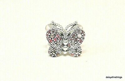 New/tags Authentic Pandora Charm Dazzling Pink Butterfly #797882Nccmx Hinged Box