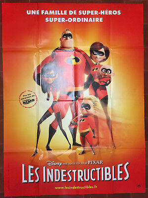 Affiche LES INDESTRUCTIBLES Incredibles BRAD BIRD Pixar 120x160cm *