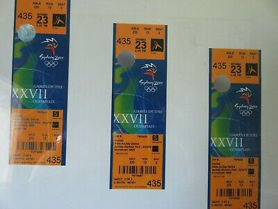 Sydney 2000 Olympic Tickets unused