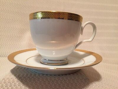 Noritake Metropolitan Gold Footed Cup and Saucer