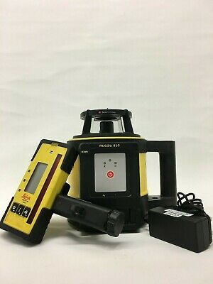 Leica Rugby 810 Rotating Laser with Rod Eye 140 Detector & 1 year calibration