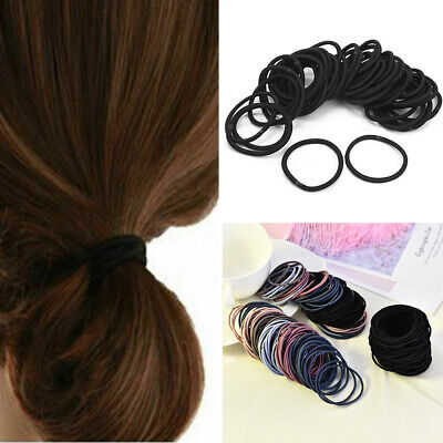 Lots 100PCS Girls Colorful Elastic Hair Tie Band Rope Ring Ponytail Holder Gift