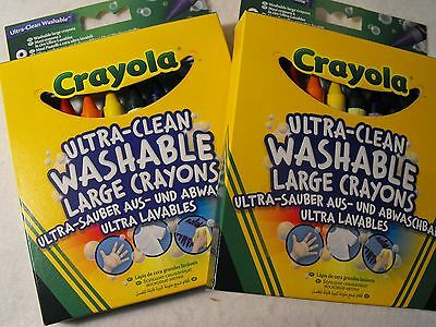 Crayola Coloured colouring Crayons 2 PACKS OF KIDS / TODDLERS WASHABLE CRAYONS