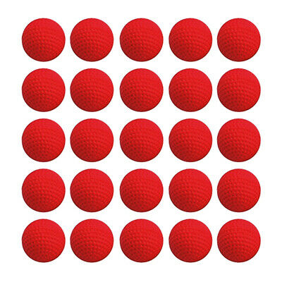 50PCS PU Bullet Balls Rounds Compatible For Nerf Rival Apollo Child Toy RED
