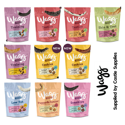 Wagg Dry Dog Food Treats Training Sensitive Puppy Bag Bulk Bone Natural Biscuits