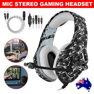 ONIKUMA K1 Mic Stereo Surround Gaming Headset for Laptop PS4 Xbox One Camo Grey