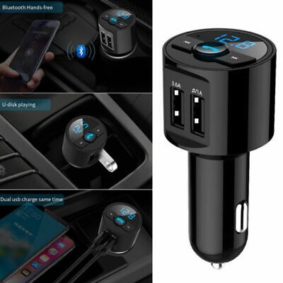 Bluetooth in Car Kit Wireless FM Transmitter Dual USB Charger Audio MP3 Player