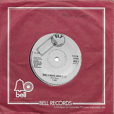 "TREX T [Tyrannosaurus] Rex Marc Bolan Ride A White Swan UK 45 7"" sgl +Is It Love"