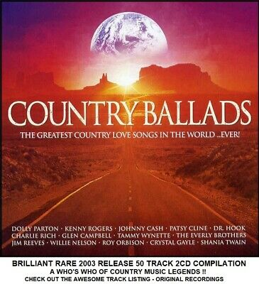 Best 50 Greatest Country Music Hits - 2CD Dolly Parton The Judds Glen Campbell
