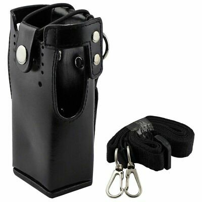 2X(FOR Motorola Hard Leather Case Carrying Holder FOR Motorola Two Way Radi Q3E7