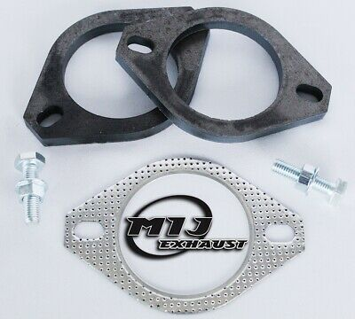 """Exhaust RePair Kit Flange & Gasket Set & Nuts & Bolts 1.75"""" 2"""" 2.25"""" 2.5"""" 3 Inch"""