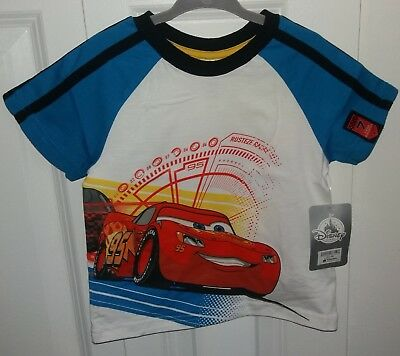 DISNEY Store Toddler Boys CARS Lightning McQueen T-shirt ~ Size 2 ~ NWT $17.99