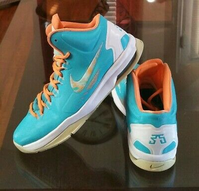 dda482a79bd8 Nike KD V Easter Turquoise Blue Bright Citrus Shoes 555641-405 Youth Size  5.5Y