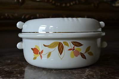 Hall Jewel Tea Autumn Leaf 1//4 Pound Ring Covered Butter Dish • MOTHERS DAY GIFT