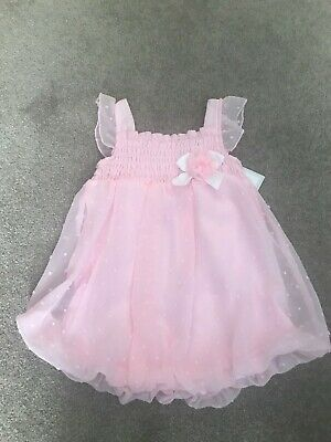 6d2479f0c NEW Baby Girls Baby Essentials Pink Bubble Romper Dress - 12 Months