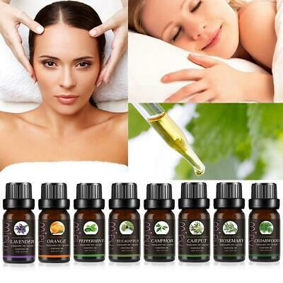Pure Essential Oils For Aromatherapy Diffusers Body Massage Relax Oil Skin 10ml