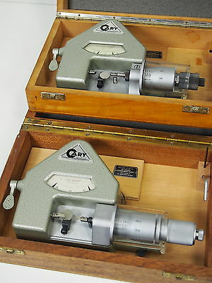 2pc/Lot_Cary Dial Comparator Bench Micrometer Watchmakers Uhrmacher Mikrometer