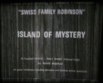 """Super 8mm Film Swiss Family Robinson Island Of Mystery Disney 3"""" Reel PREVIEWED"""