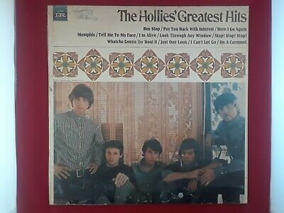 """The Hollies Greatest Hits 12"""" Vinyl Record LP-9350 1967 BUS STOP"""